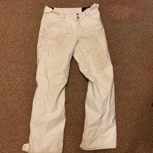 White snow pants